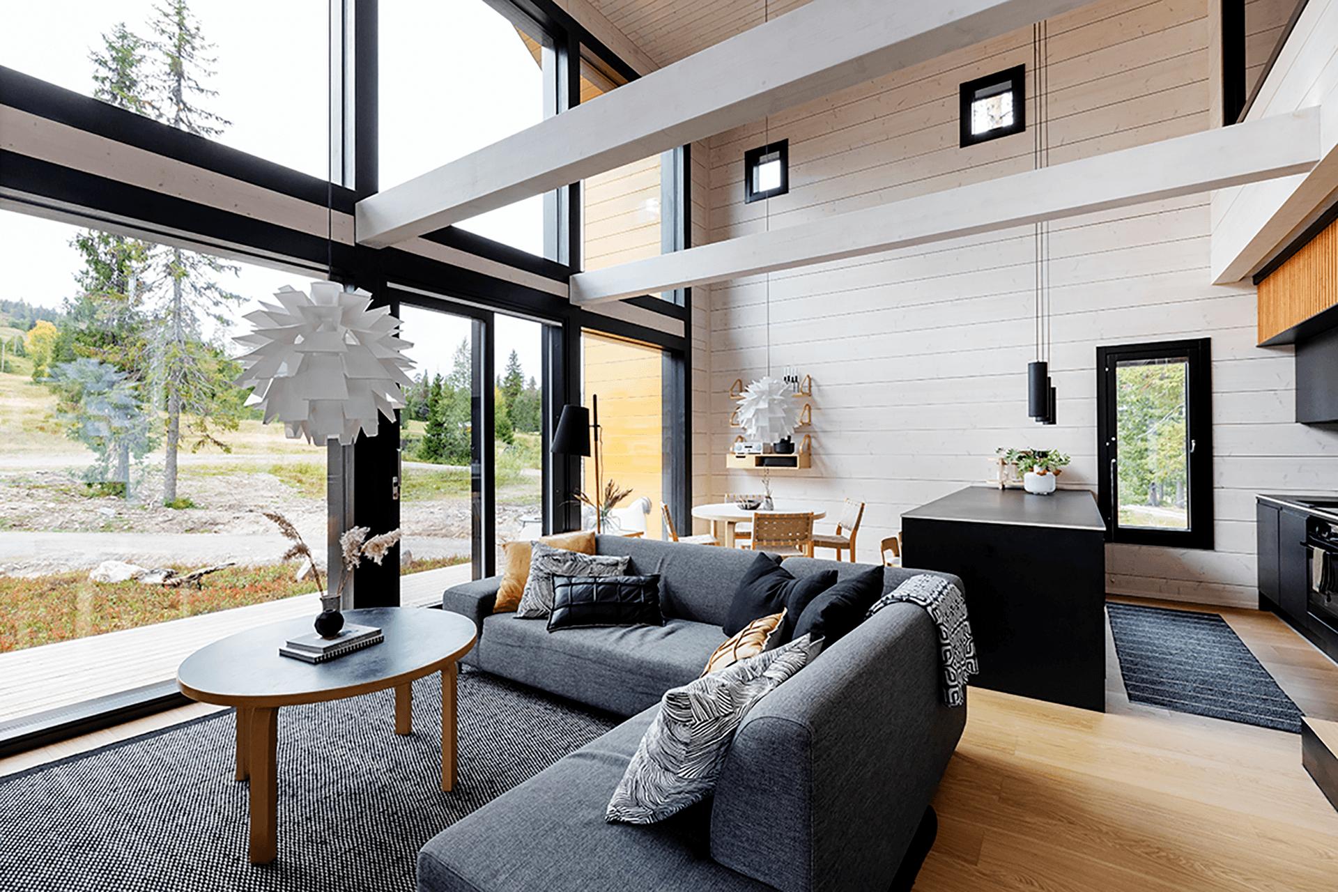Talonäyttely:Finnlamelli, Hirsikoti 137 m²